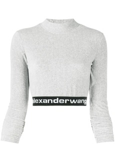 T by Alexander Wang long-sleeve crop top