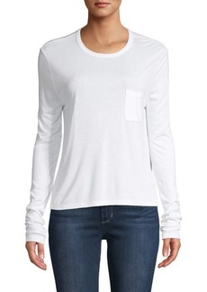T by Alexander Wang Long-Sleeve Pocket Tee