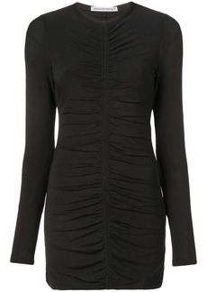 T by Alexander Wang long-sleeved ruched dress
