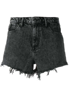 T by Alexander Wang marbled denim shorts
