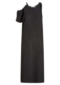 T by Alexander Wang Maxi Dress with Asymmetric Sleeves