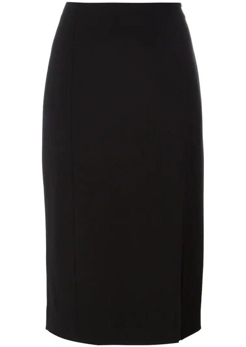 T by Alexander Wang midi straight skirt