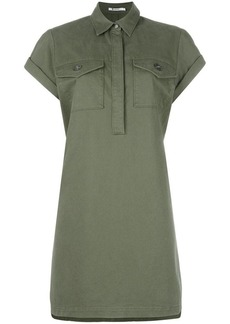 T by Alexander Wang military shirt dress
