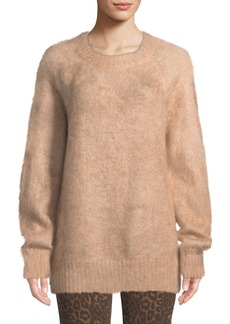 T by Alexander Wang Mohair Crewneck Pullover Sweater
