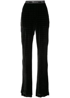 T by Alexander Wang monogram print flared trousers