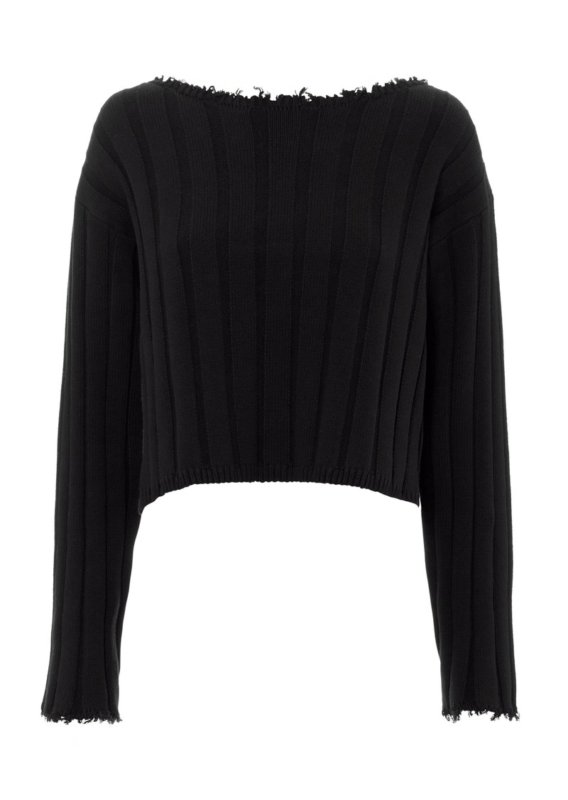 T by Alexander Wang Off Shoulder Pullover