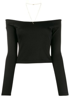 T by Alexander Wang off-the-shoulder cropped top