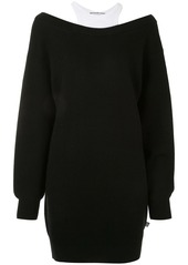 T by Alexander Wang off the shoulder knit dress