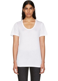 T by Alexander Wang Off-White Drapey T-Shirt