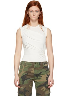 T by Alexander Wang Off-White Twisted Top