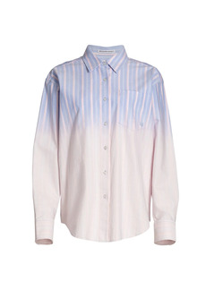 T by Alexander Wang Ombre Stripe Oxford Button-Down Shirt