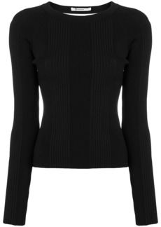 T by Alexander Wang open back long sleeve knit top