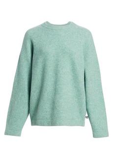 T by Alexander Wang Oversize Wool-Blend Crewneck Sweater