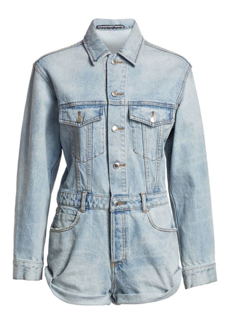 T by Alexander Wang Denim Romper