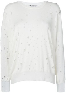 T by Alexander Wang oversized hole detail sweater