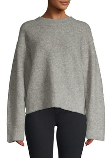 T by Alexander Wang Oversized Pilling Wool-Blend Pullover