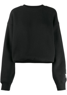 T by Alexander Wang oversized sleeve-logo sweatshirt