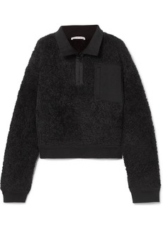 T by Alexander Wang Oversized Wool-blend Fleece Sweatshirt