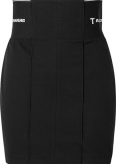 T by Alexander Wang Paneled Cotton-blend Twill Mini Skirt