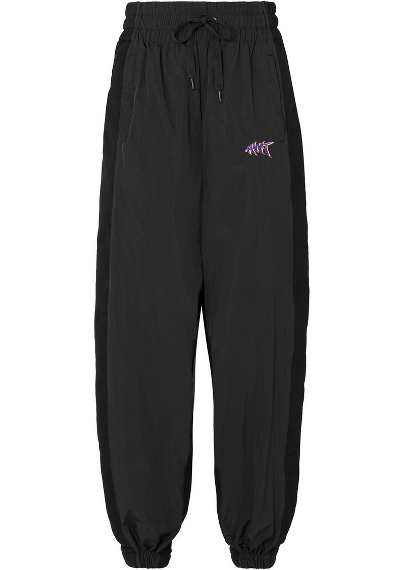T by Alexander Wang Paneled Shell And Cotton-jersey Track Pants