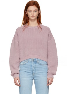 T by Alexander Wang Pink Cropped Utility Sweater
