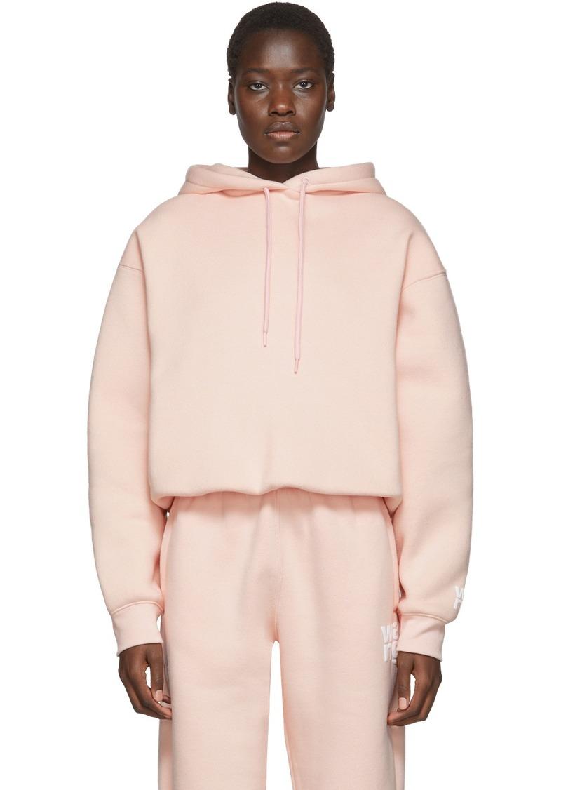 T by Alexander Wang Pink Dense Fleece Bubble Hoodie
