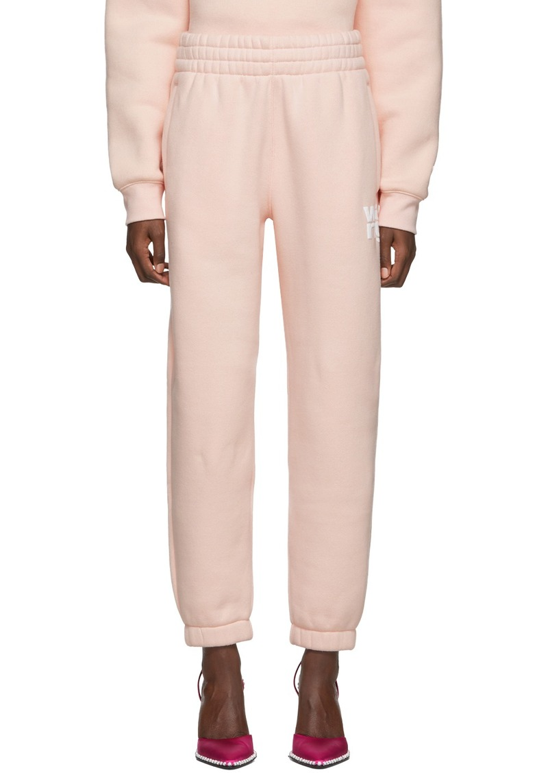 T by Alexander Wang Pink Dense Fleece Lounge Pants