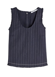 T by Alexander Wang Pinstriped Sleeveless Top