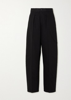 T by Alexander Wang Pleated Denim Straight-leg Pants
