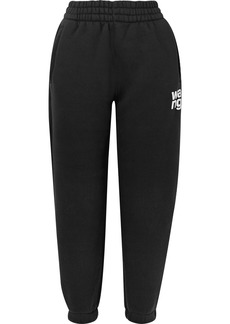 T by Alexander Wang Printed Cotton-blend Fleece Track Pants
