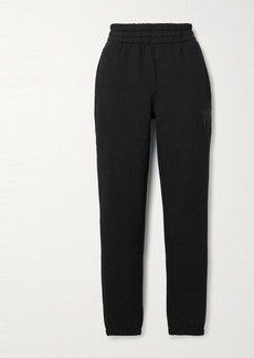 T by Alexander Wang Printed Cotton-blend Jersey Track Pants