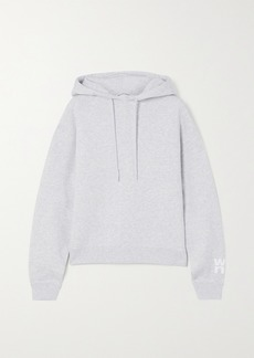 T by Alexander Wang Printed Mélange Cotton-blend Jersey Hoodie