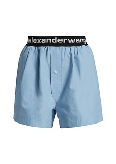 T by Alexander Wang Pull-On Pleated Shorts