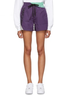 T by Alexander Wang Purple Heavy Washed Shorts