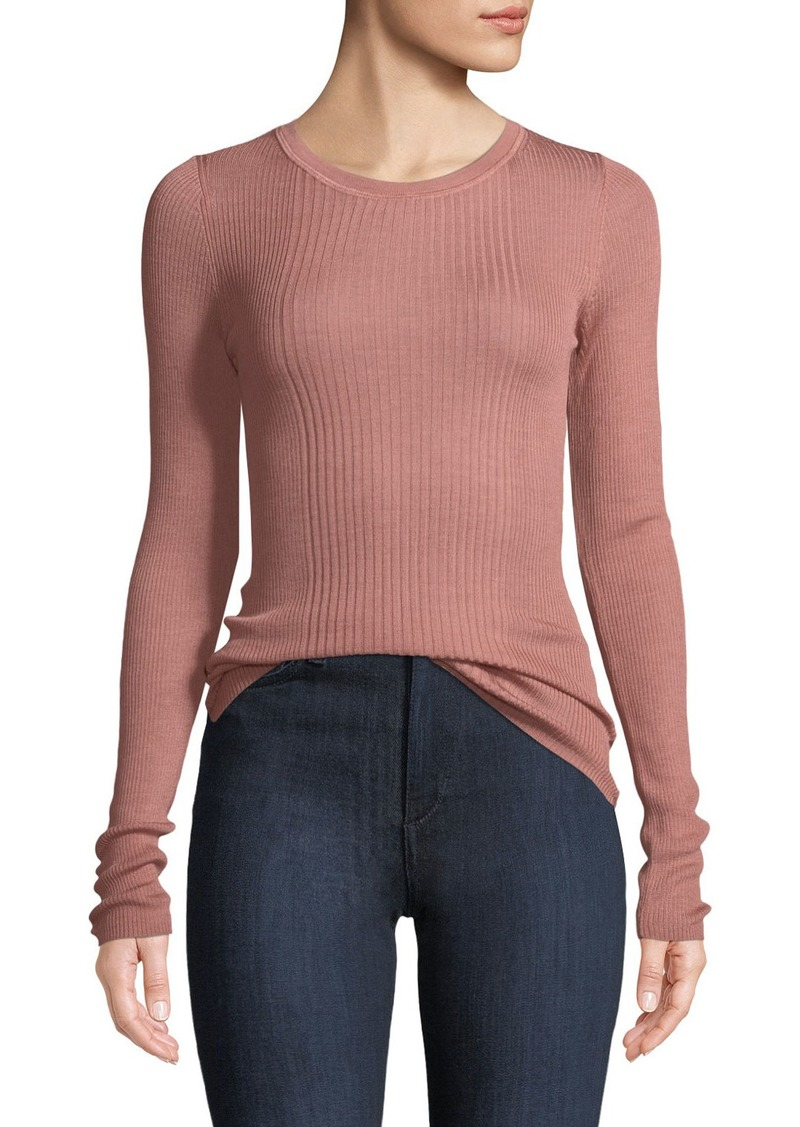 5e493f7e22 On Sale today! T by Alexander Wang Rib-Knit Long-Sleeve Top