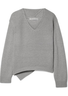 T by Alexander Wang Ribbed Cotton-blend Sweater