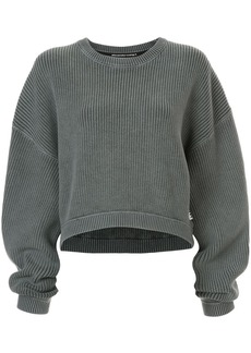 T by Alexander Wang ribbed cropped jumper