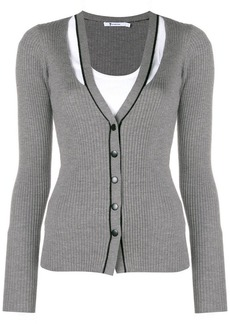 T by Alexander Wang ribbed cut-out cardigan