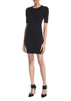 T by Alexander Wang Ribbed Cutout Logo Mini Dress