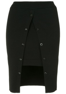 T by Alexander Wang ribbed fitted skirt