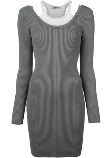 T by Alexander Wang ribbed knit fitted dress