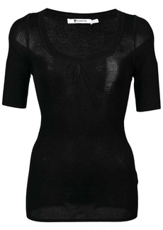 T by Alexander Wang ribbed knit jersey top