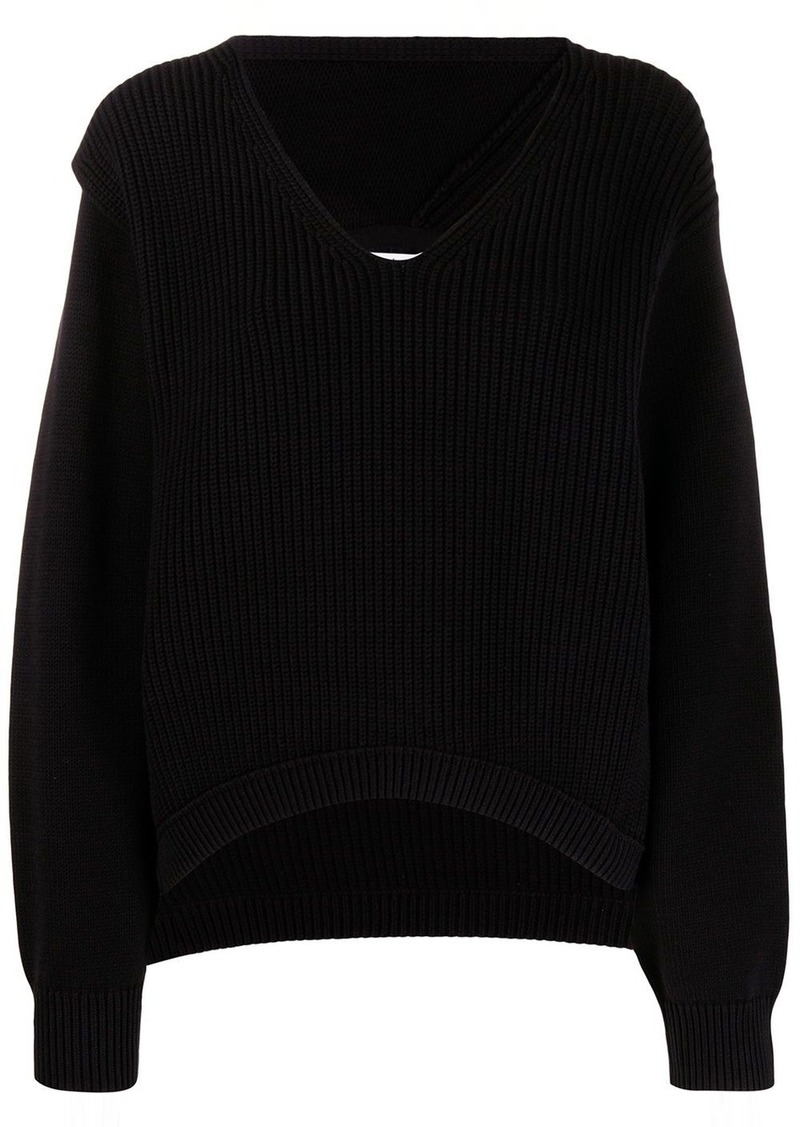 T by Alexander Wang ribbed knitted jumper