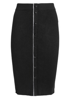 T by Alexander Wang Ribbed Pencil Skirt