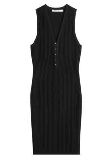 T by Alexander Wang Ribbed Sleeveless Dress