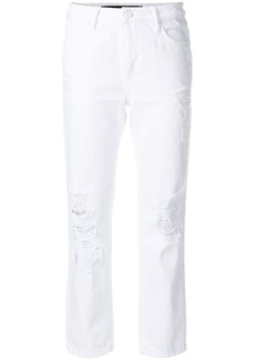 T by Alexander Wang ripped cropped jeans
