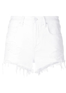 T by Alexander Wang ripped short denim shorts