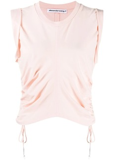 T by Alexander Wang round neck drawstring vest top