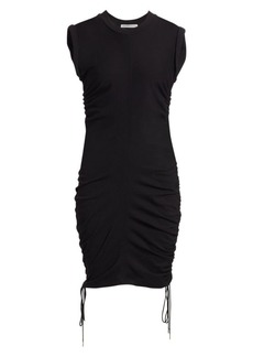 T by Alexander Wang Ruched Bodycon T-Shirt Dress