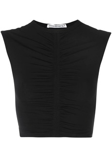 T by Alexander Wang ruched crop top